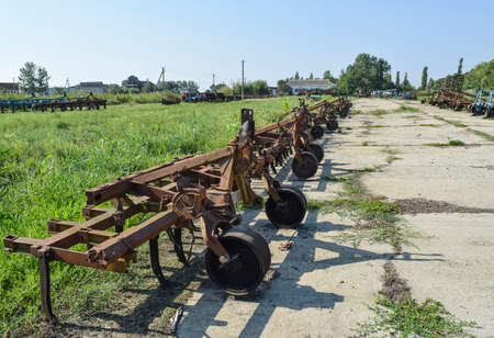 Trailer Hitch for tractors and combines. Trailers for agricultural machinery. Stok Fotoğraf