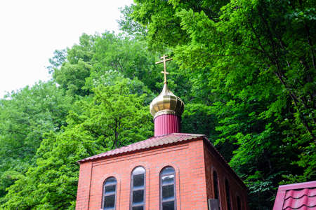 Holy Hand, Russia - June 24, 2017: Orthodox church in the village of Holy Pen. Sights of the Krasnodar Territory.