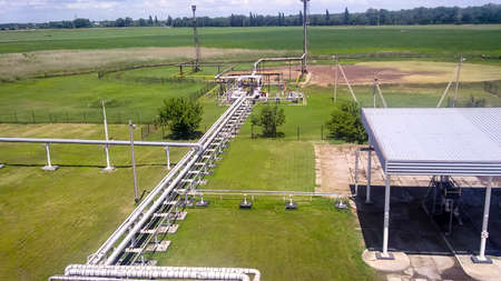 The end point of the pressure relief system on the oil facility
