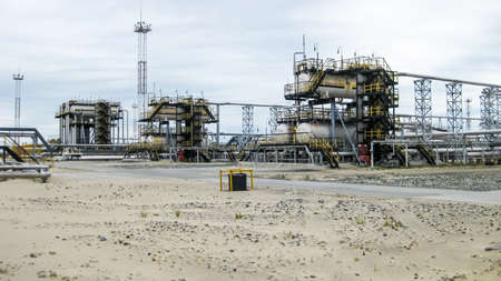 Separator. Equipment for oil separation. Modular oil treatment unit. Bulite for separation Stok Fotoğraf