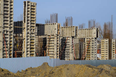 Construction of a residential building, reinforced concrete structures, cement and fittings.