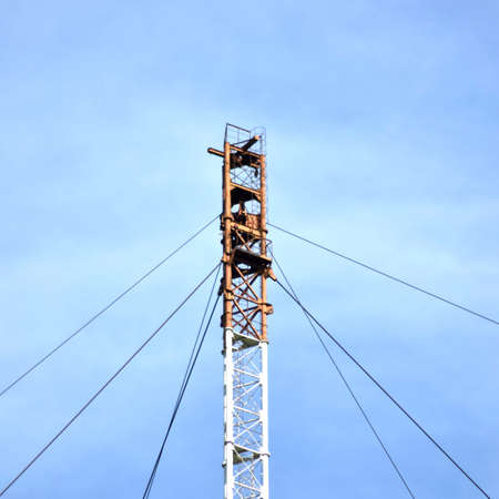 Aerial platforms for the transmission of radio waves in the longwave range. Means of communication with submarines. Stockfoto