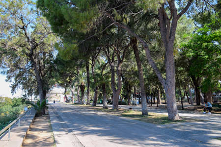 Antalya, Turkey - May 19, 2019: Karaalioglu Park walk through the Antali Park