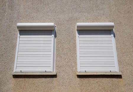 External blinds on the windows for protection from the suns rays.