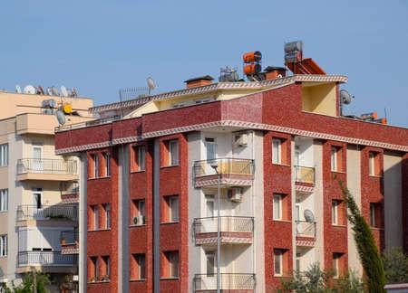 Antalya, Turkey - May 19, 2019: Sleeping area of Antalya, low-rise construction in neighborhoods. Redactioneel