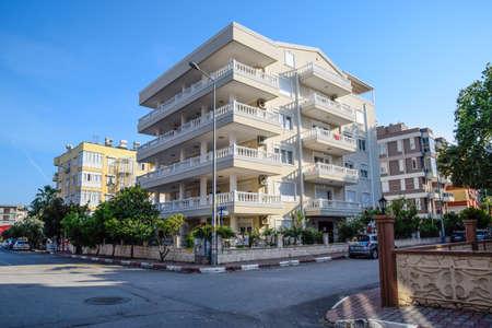 Antalya, Turkey - May 19, 2019: Sleeping area of Antalya, low-rise construction in neighborhoods. Editorial