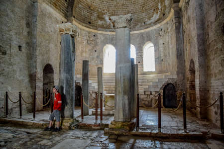 Demre, Turkey - May 21, 2019: Altar of the Church of St. Nicholas the Baptist miracle worker in Demre, Turkey