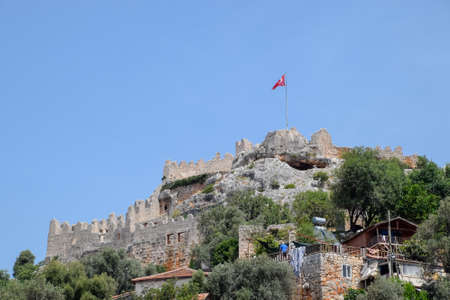 Hotel Sahil Pension Turkey, Kaleuchagiz, a village for rich visitors, on the ruins of the ancient city of Kekova.