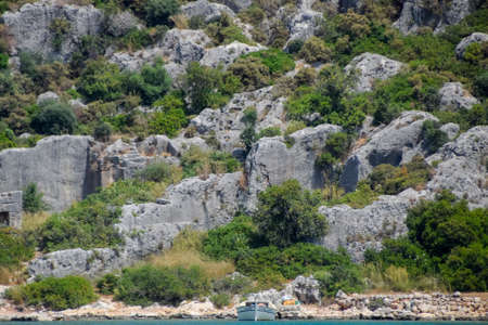 The ruins of the ancient city of Kekova on the shore.