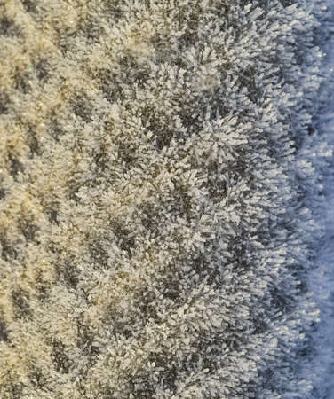 Background of a sheet of slate covered with frost. Banco de Imagens