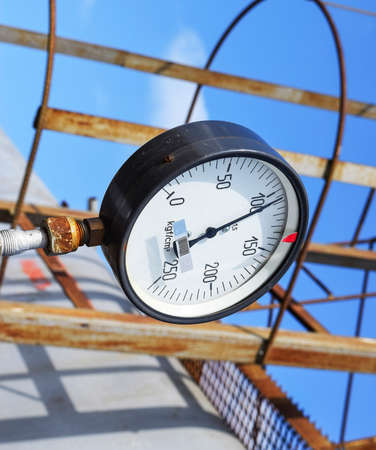 The manometer is the device for measurement of pressure Stock fotó