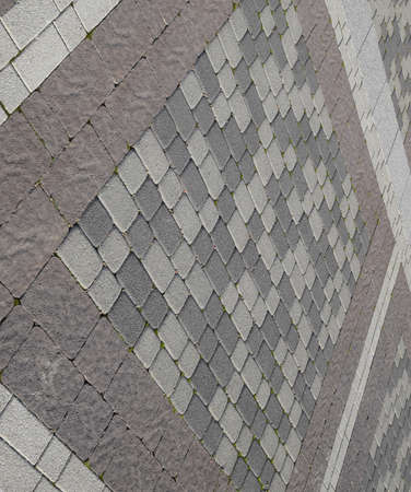 Figure out the paving slabs in the square. Background of paving slabs. Texture of stone products. Stockfoto - 129488047