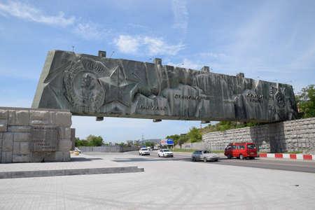 Novorossiysk, Russia - May 20, 2018: defense line, Fire Frontier memorial complex in the city of Novorossiysk, Russia.