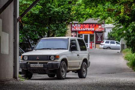 Novorossiysk, Russia - May 20, 2018: Old Mitsubishi SUV on the streets of Novorossiysk.
