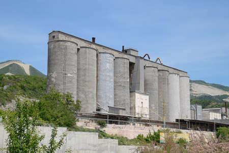 Grain terminal in the port of Novorossiysk. Grain elevator.