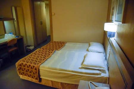 Pamukkale, Demre, Turkey - May 21, 2019: Hotel room interior, Pam Hotel in Turkey near Pamukkale Éditoriale