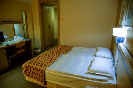 Pamukkale, Demre, Turkey - May 21, 2019: Hotel room interior, Pam Hotel in Turkey near Pamukkale Standard-Bild - 133523001