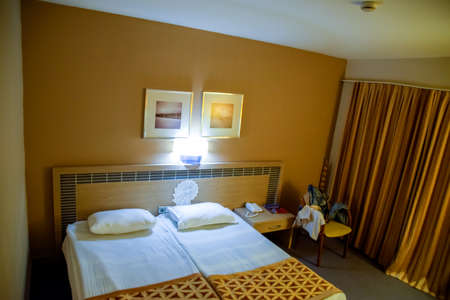 Pamukkale, Demre, Turkey - May 21, 2019: Hotel room interior, Pam Hotel in Turkey near Pamukkale Editorial