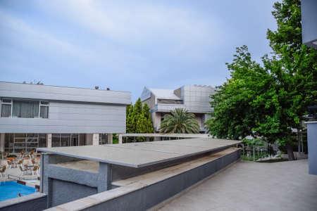Demre, Turkey - May 21, 2019: Pam Thermal Hotel, Hot spring mineral medicinal water. Standard-Bild - 133523028