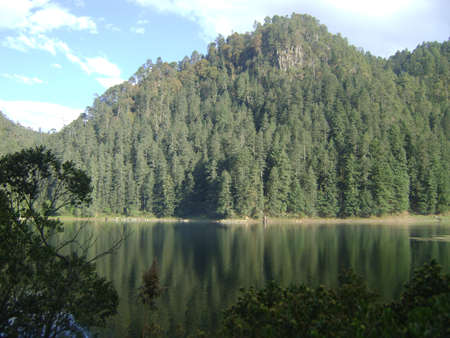 Zempoala Lagoon, Mxico 版權商用圖片