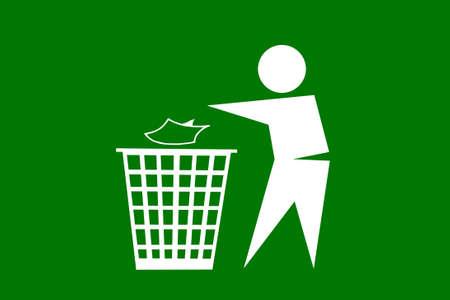 People dumping trash