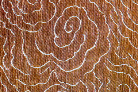 painting: Closeup detail of Brown fabric floor texture background.