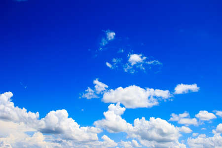 Bright blue sky with white clouds Stock fotó