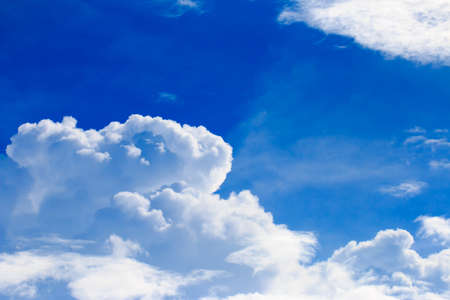 Bright blue sky with white clouds Standard-Bild