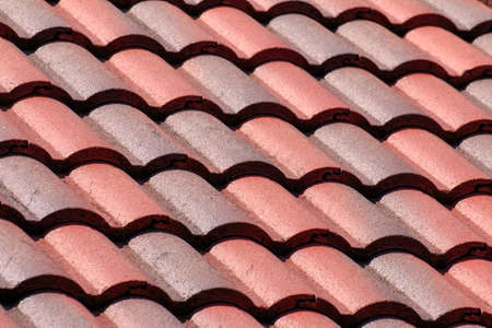 closeup of red roof texture