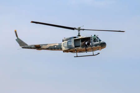 Military helicopter show in Chiang Mai,Thailand Stock Photo