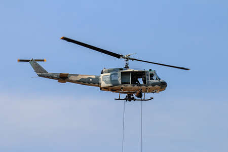 Military helicopter show  in Chiang Mai,Thailand