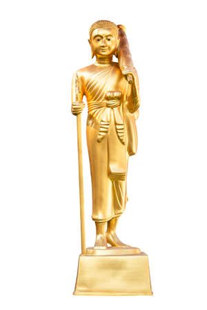 Golden statue of Phra Sivali in Wat Suan Dok Temple , Chiang Mai