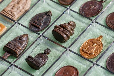 Small Buddha image or Thai amulet