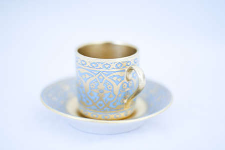 Coffee cup with saucer for traditional turkish coffee photo