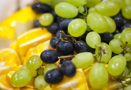 Variety of fresh grape served on table Stock Photo - 10128102