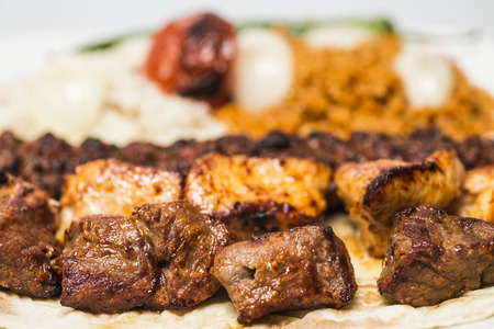 selections: Traditional turkish food - selections of kebabs