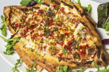 'black sea': Traditional food from Black Sea - Turkish pizza