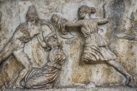 Frieze of the Mausoleum of Halikarnassos exibited in British Museum