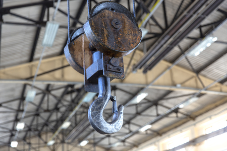 Industrial Steel Crane Hook Reklamní fotografie
