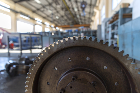 Industrial Steel Gear Wheel Banque d'images