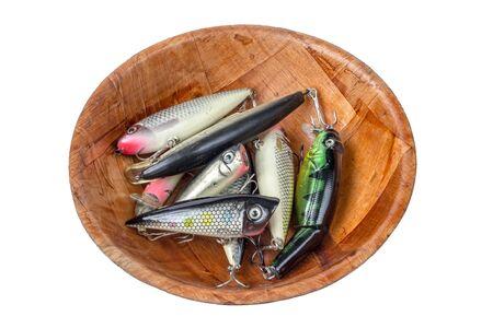 color image fish hook: Fishing baits Stock Photo