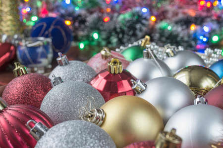 the tinsel: Christmas colour toys and tinsel