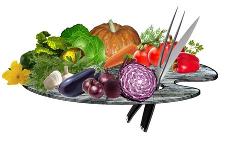 mixture: Vegetable lettuce mixture