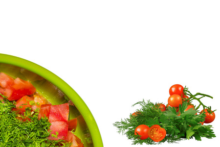 verdure: Salad with tomato and verdure