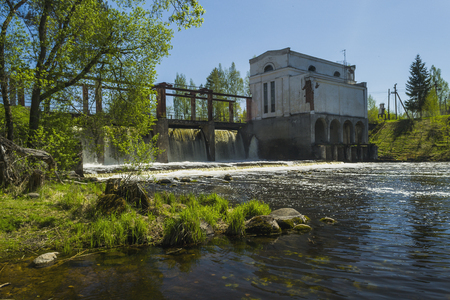 hydroelectric: Aging hydroelectric station Stock Photo