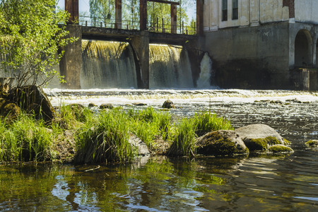aging: Aging hydroelectric station Stock Photo