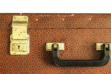 furlough: old suitcase isolated Stock Photo