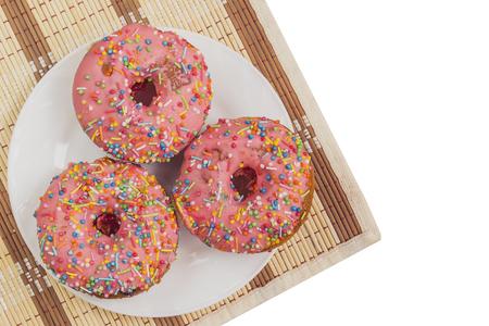 napkin ring: cake Donuts with colour sugar glaze