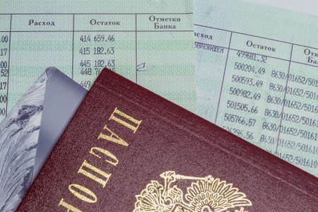 accumulations: Passport and passbook Stock Photo