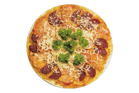 mediterranean homes: Delicious pizza Stock Photo